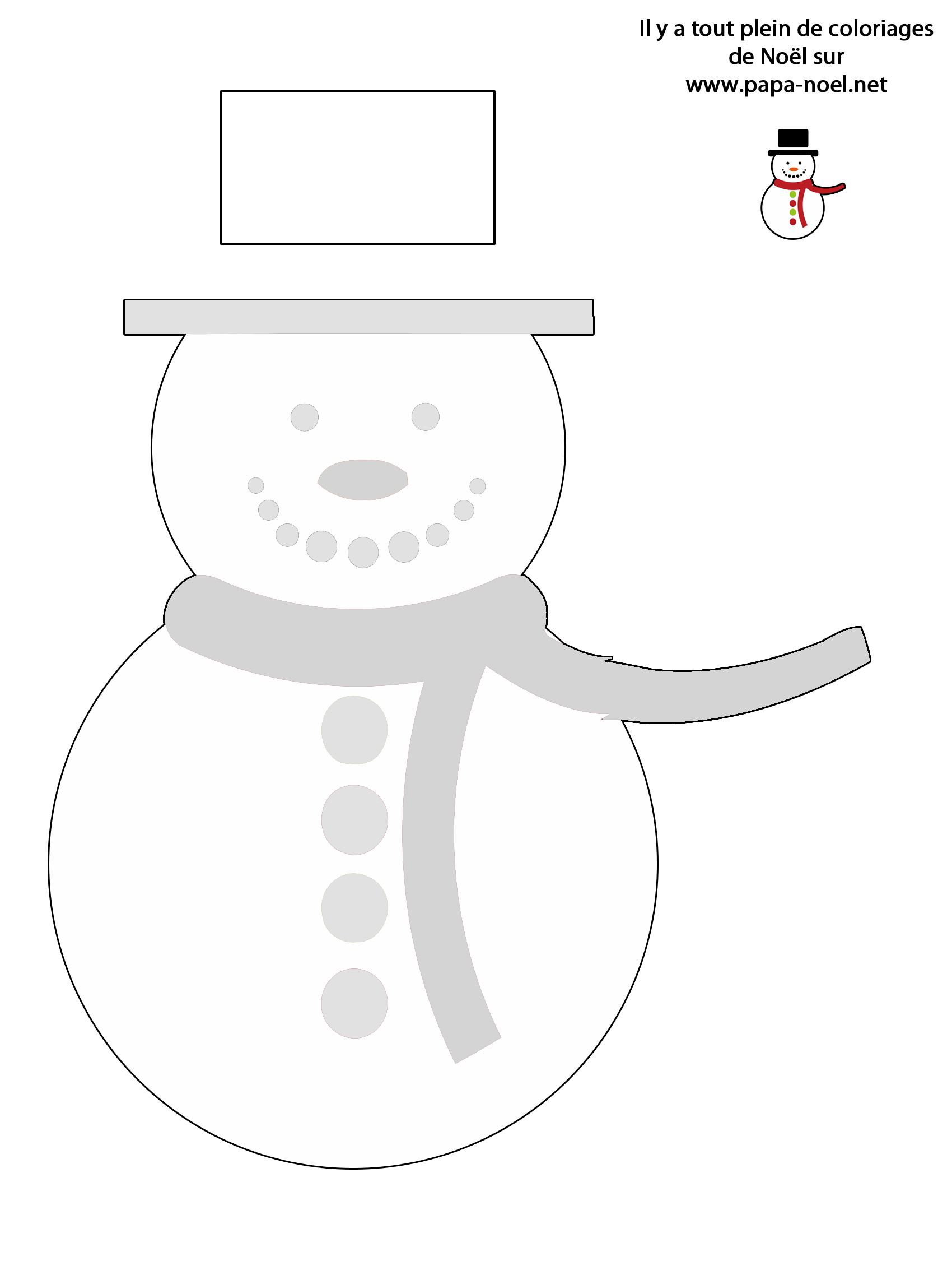 Bonhomme de neige colorier coloriage de no l - Pere noel en gobelet plastique ...