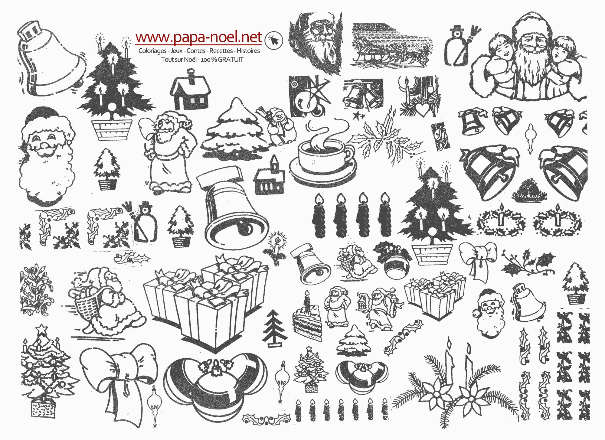 Planche De Coloriage De Noël Vintage à Imprimer Découper